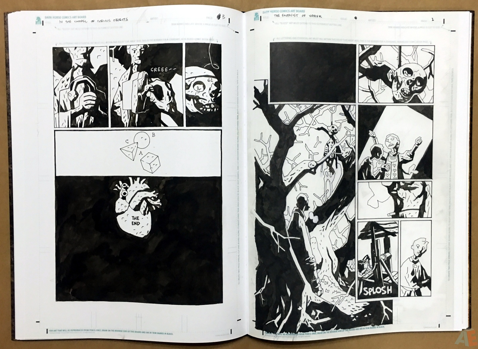Mike Mignola's The Amazing Screw-On Head and Other Curious Objects Artist's Edition 32