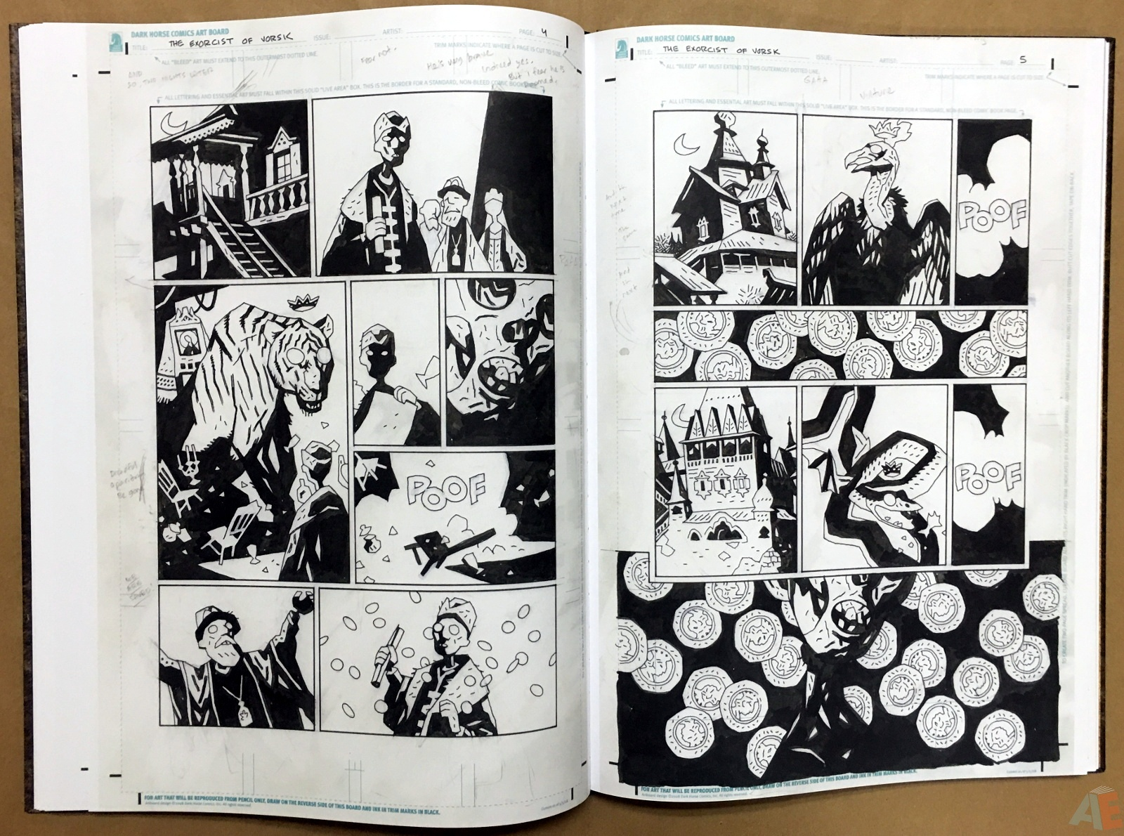 Mike Mignola's The Amazing Screw-On Head and Other Curious Objects Artist's Edition 34
