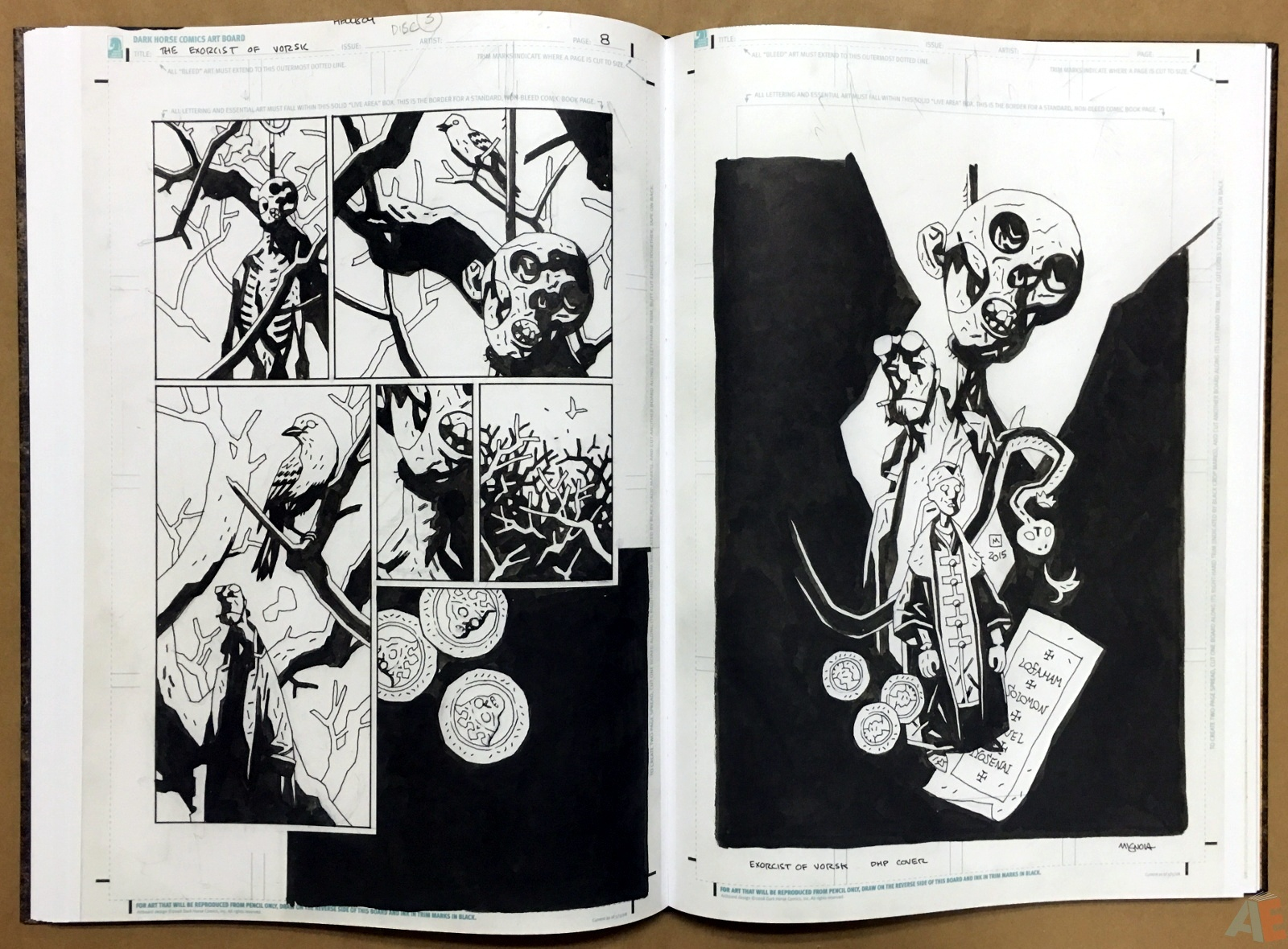 Mike Mignola's The Amazing Screw-On Head and Other Curious Objects Artist's Edition 36