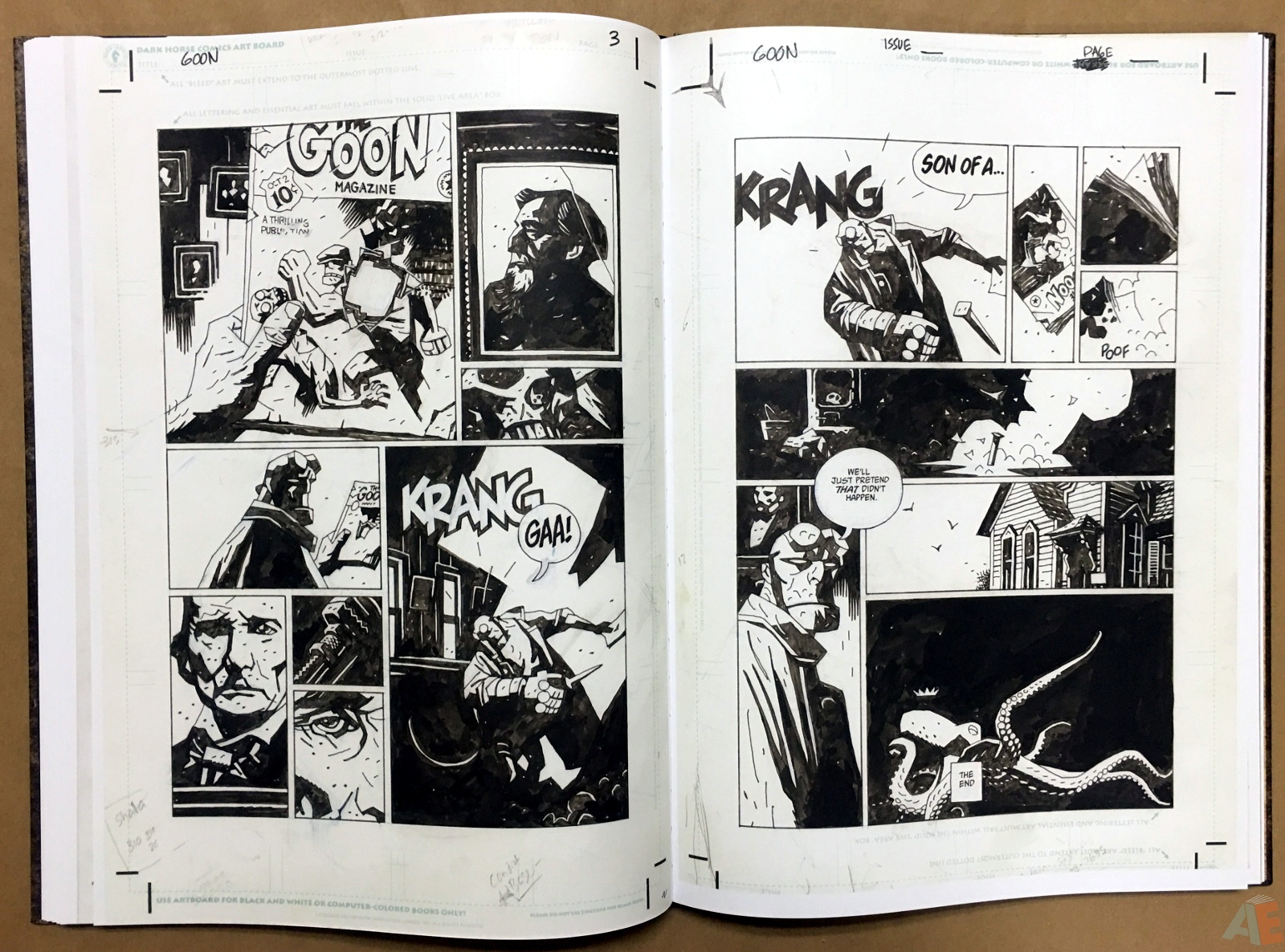 Mike Mignola's The Amazing Screw-On Head and Other Curious Objects Artist's Edition 38