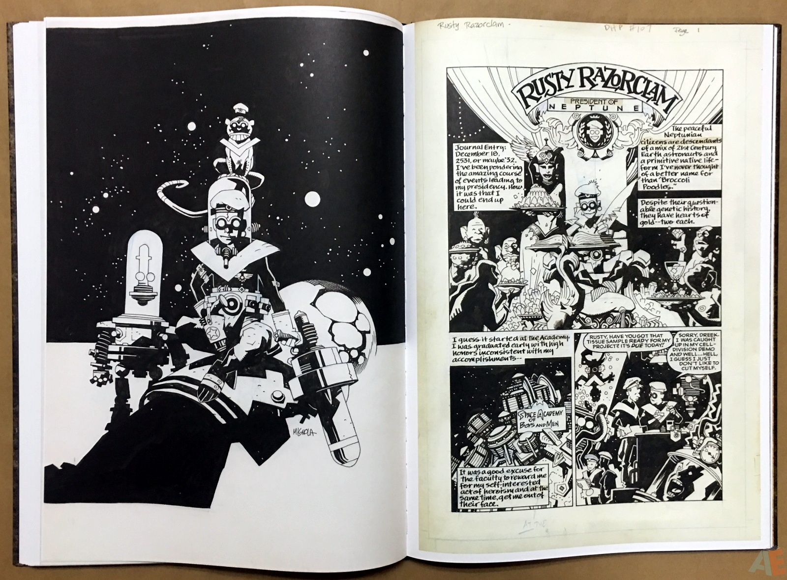 Mike Mignola's The Amazing Screw-On Head and Other Curious Objects Artist's Edition 40