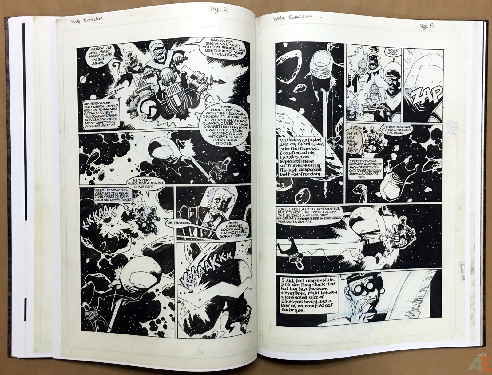 Mike Mignola's The Amazing Screw-On Head and Other Curious Objects Artist's Edition 42