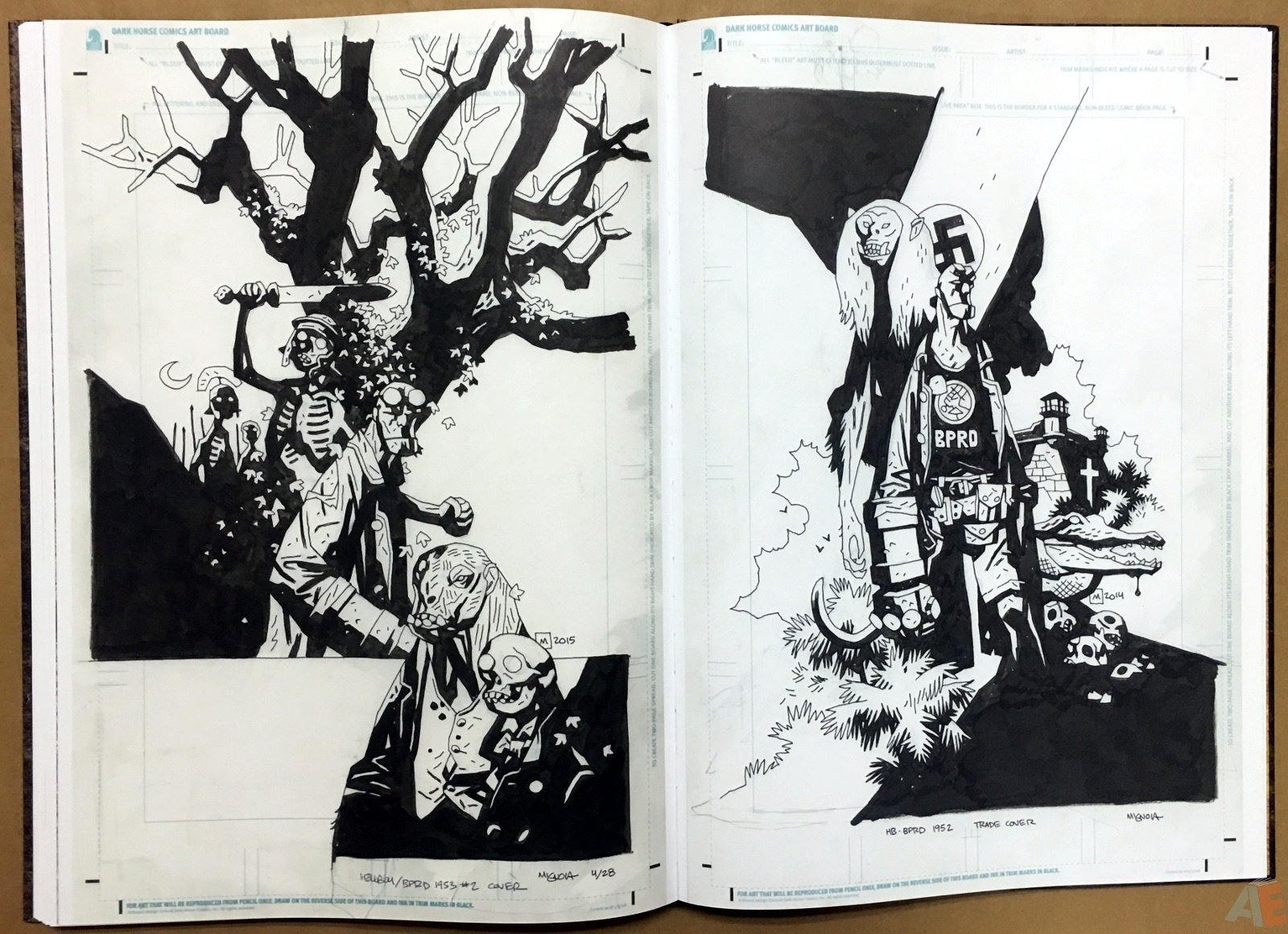 Mike Mignola's The Amazing Screw-On Head and Other Curious Objects Artist's Edition 50