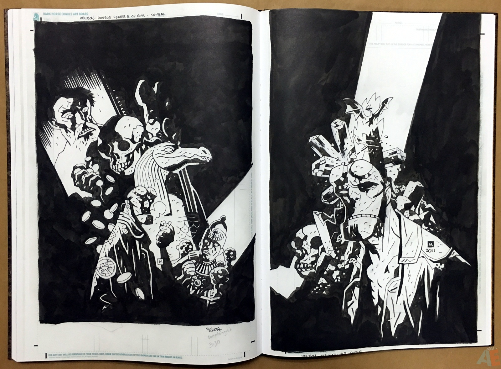 Mike Mignola's The Amazing Screw-On Head and Other Curious Objects Artist's Edition 52