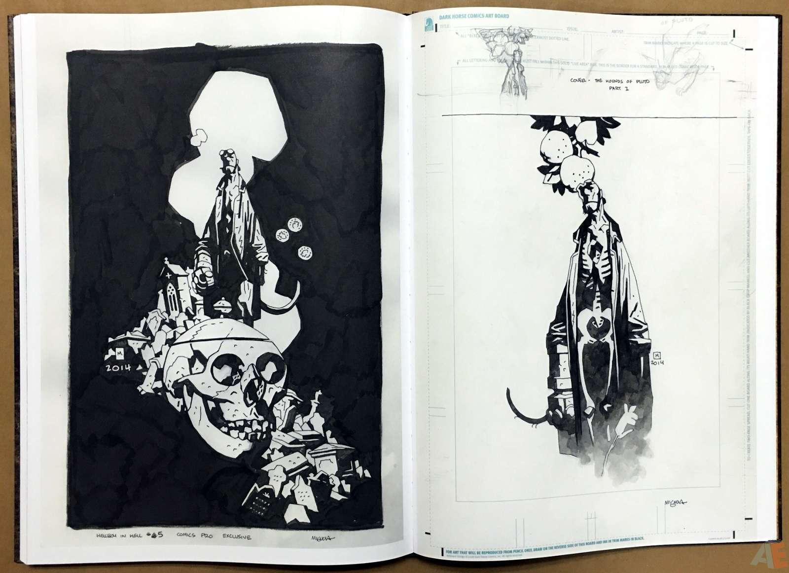 Mike Mignola's The Amazing Screw-On Head and Other Curious Objects Artist's Edition 54