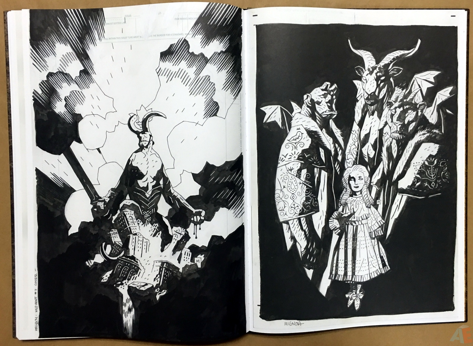 Mike Mignola's The Amazing Screw-On Head and Other Curious Objects Artist's Edition 56