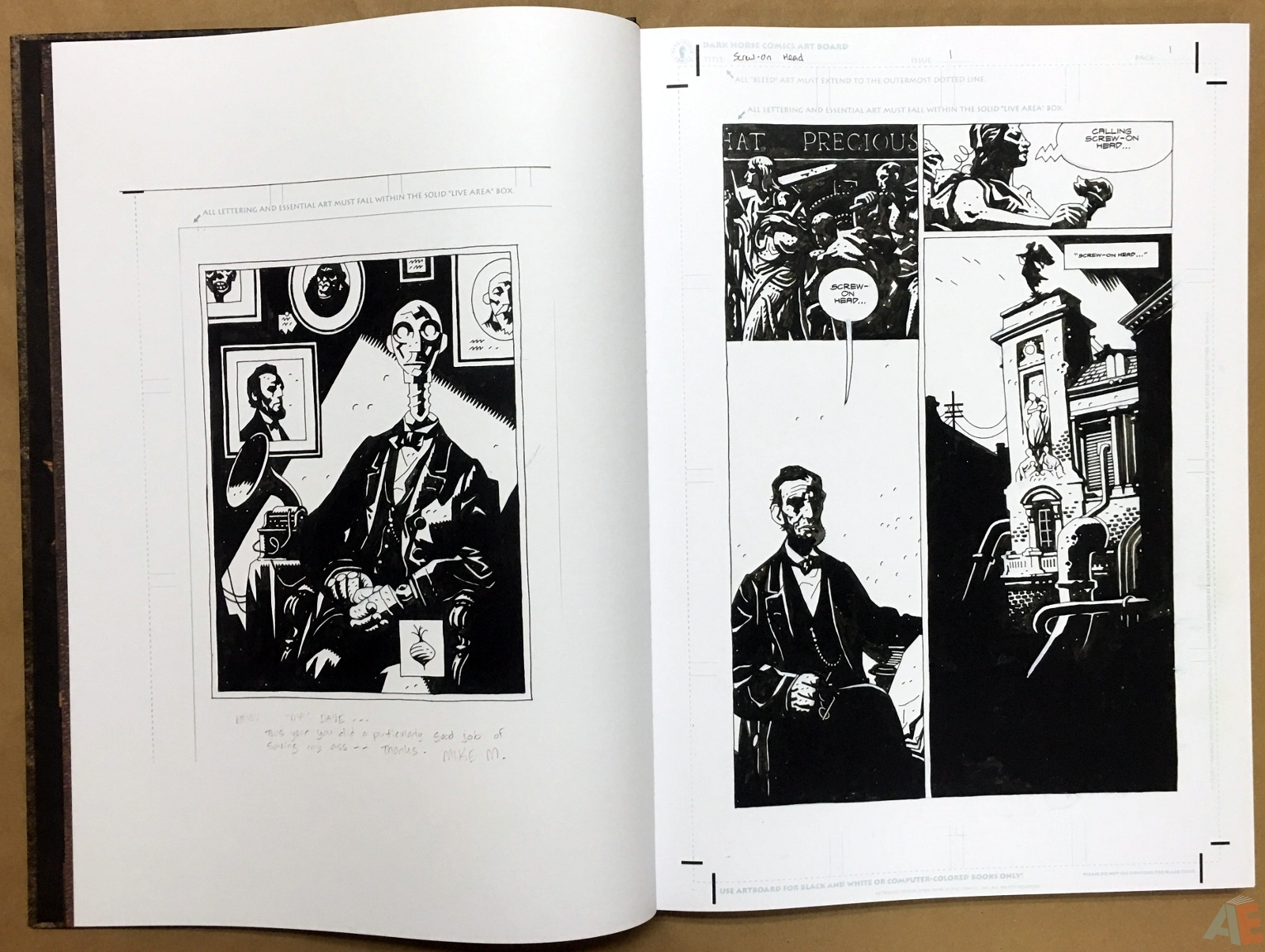 Mike Mignola's The Amazing Screw-On Head and Other Curious Objects Artist's Edition 8