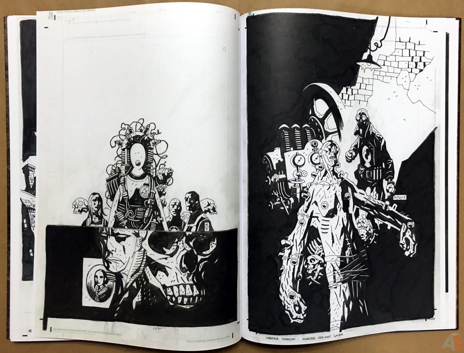 Mike Mignola's The Amazing Screw-On Head and Other Curious Objects Artist's Edition 62