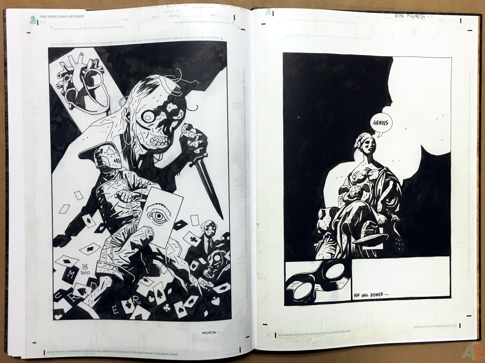 Mike Mignola's The Amazing Screw-On Head and Other Curious Objects Artist's Edition 66