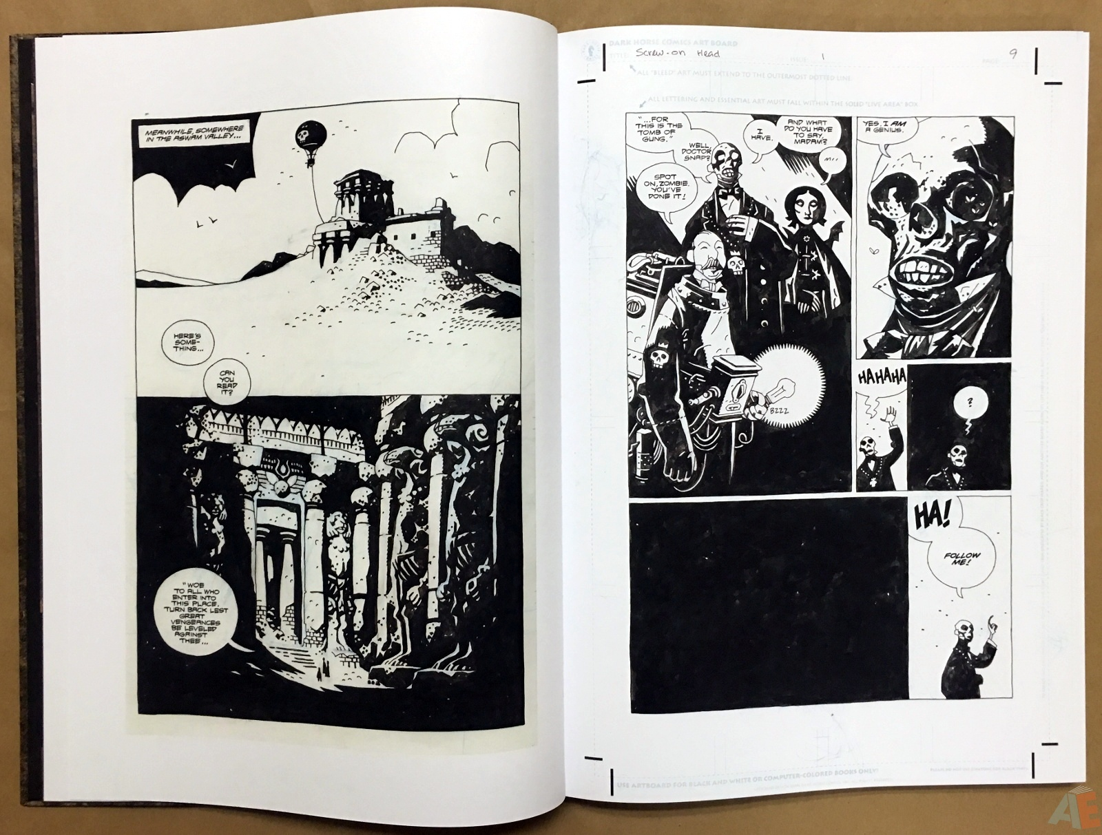 Mike Mignola's The Amazing Screw-On Head and Other Curious Objects Artist's Edition 10