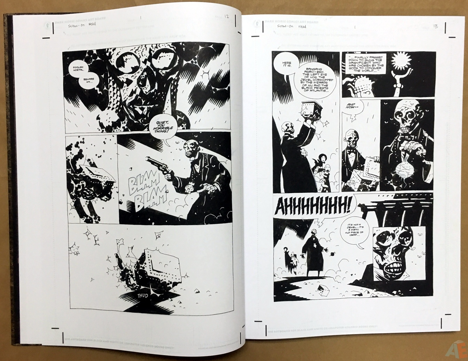 Mike Mignola's The Amazing Screw-On Head and Other Curious Objects Artist's Edition 12
