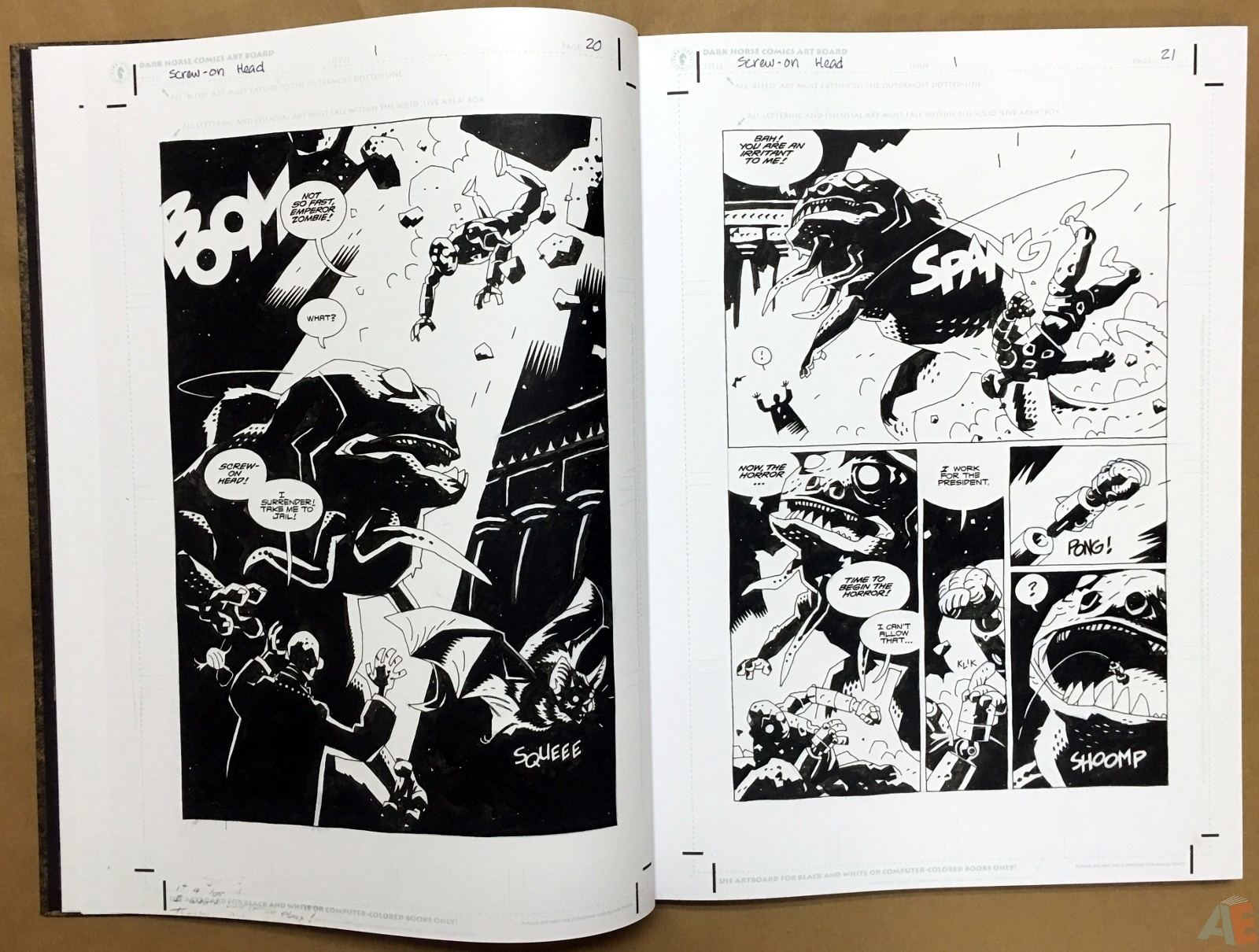 Mike Mignola's The Amazing Screw-On Head and Other Curious Objects Artist's Edition 14