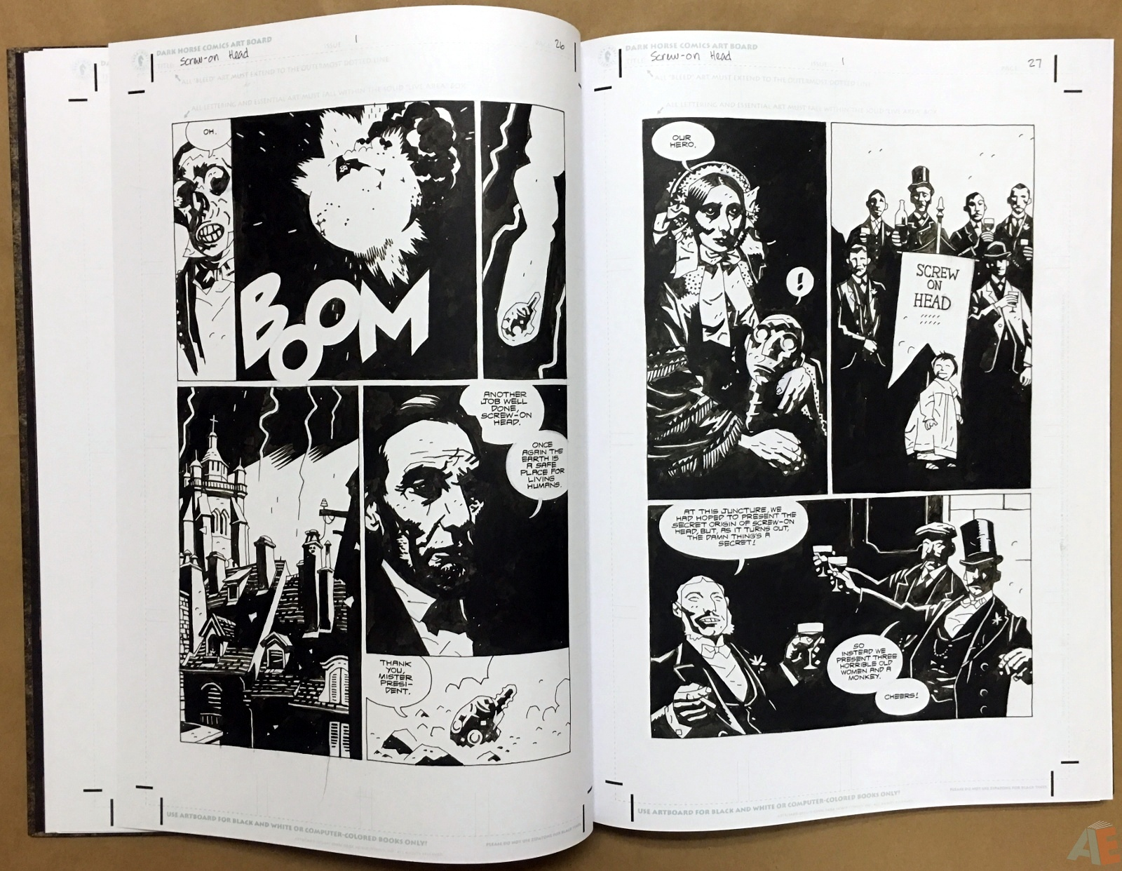 Mike Mignola's The Amazing Screw-On Head and Other Curious Objects Artist's Edition 16