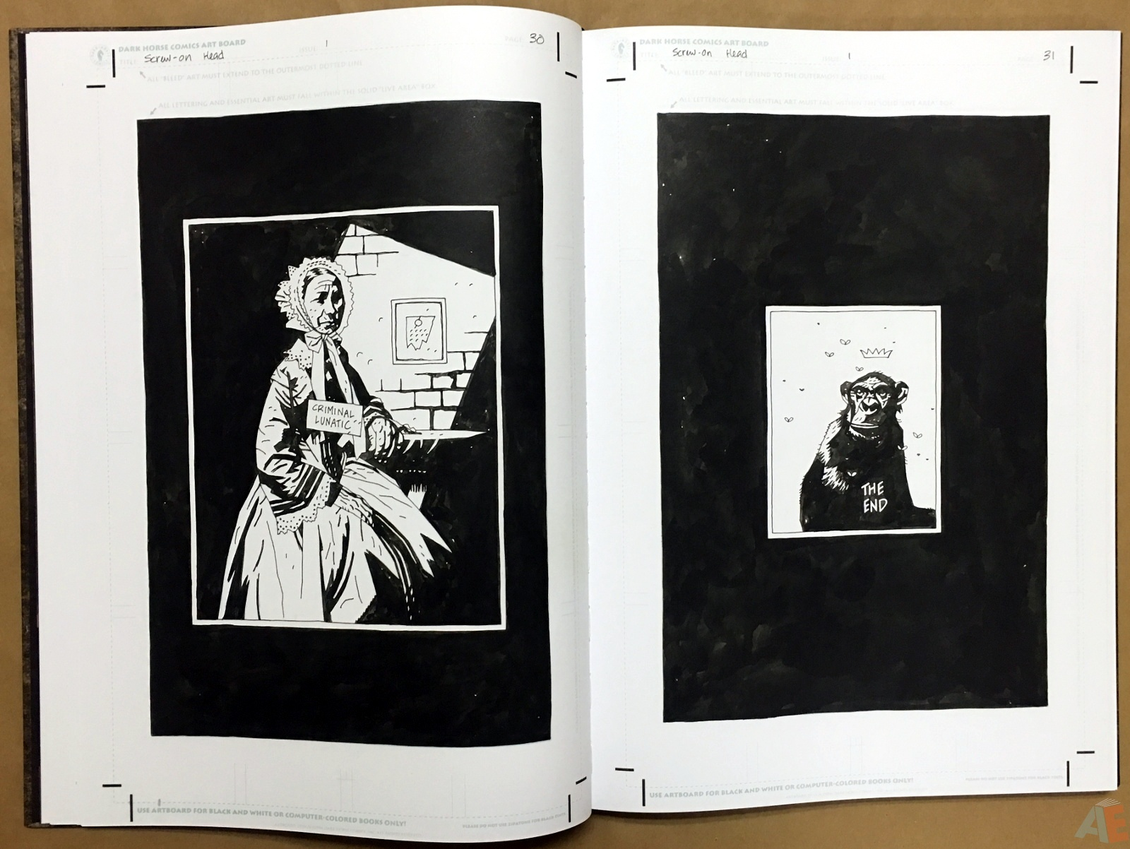 Mike Mignola's The Amazing Screw-On Head and Other Curious Objects Artist's Edition 18