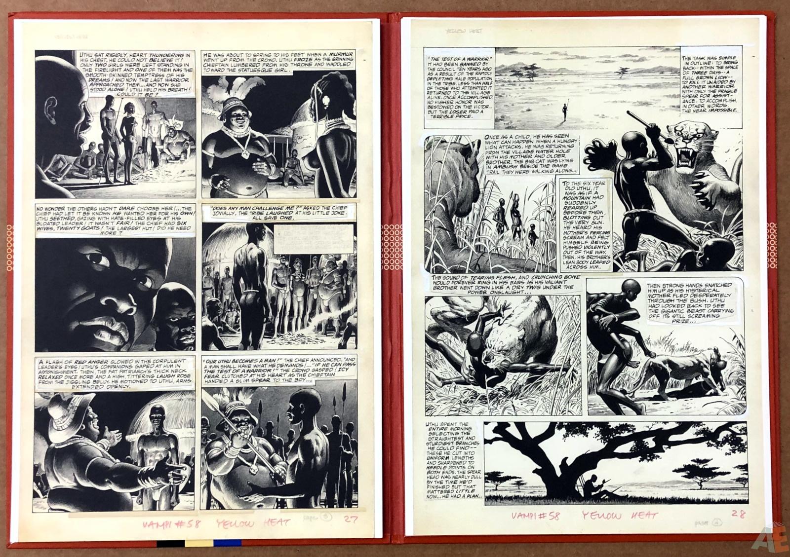 Russ Heath's Yellow Heat Artist's Edition Portfolio 8