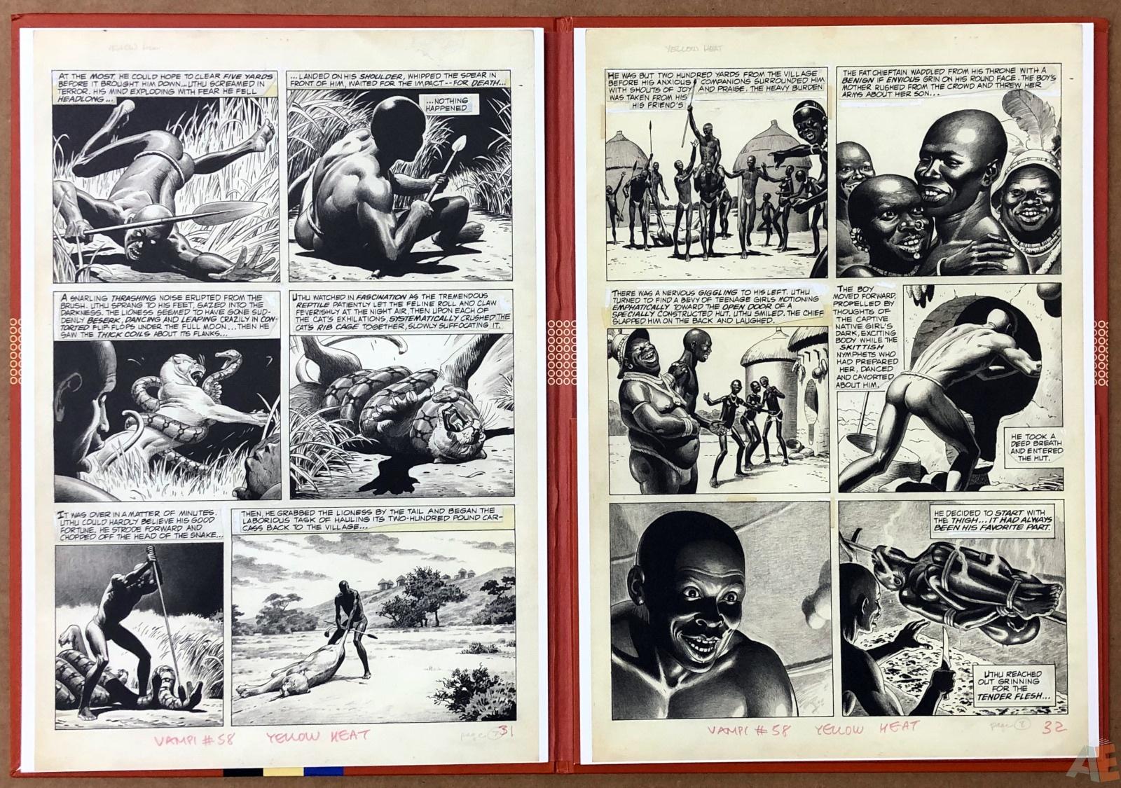 Russ Heath's Yellow Heat Artist's Edition Portfolio 12