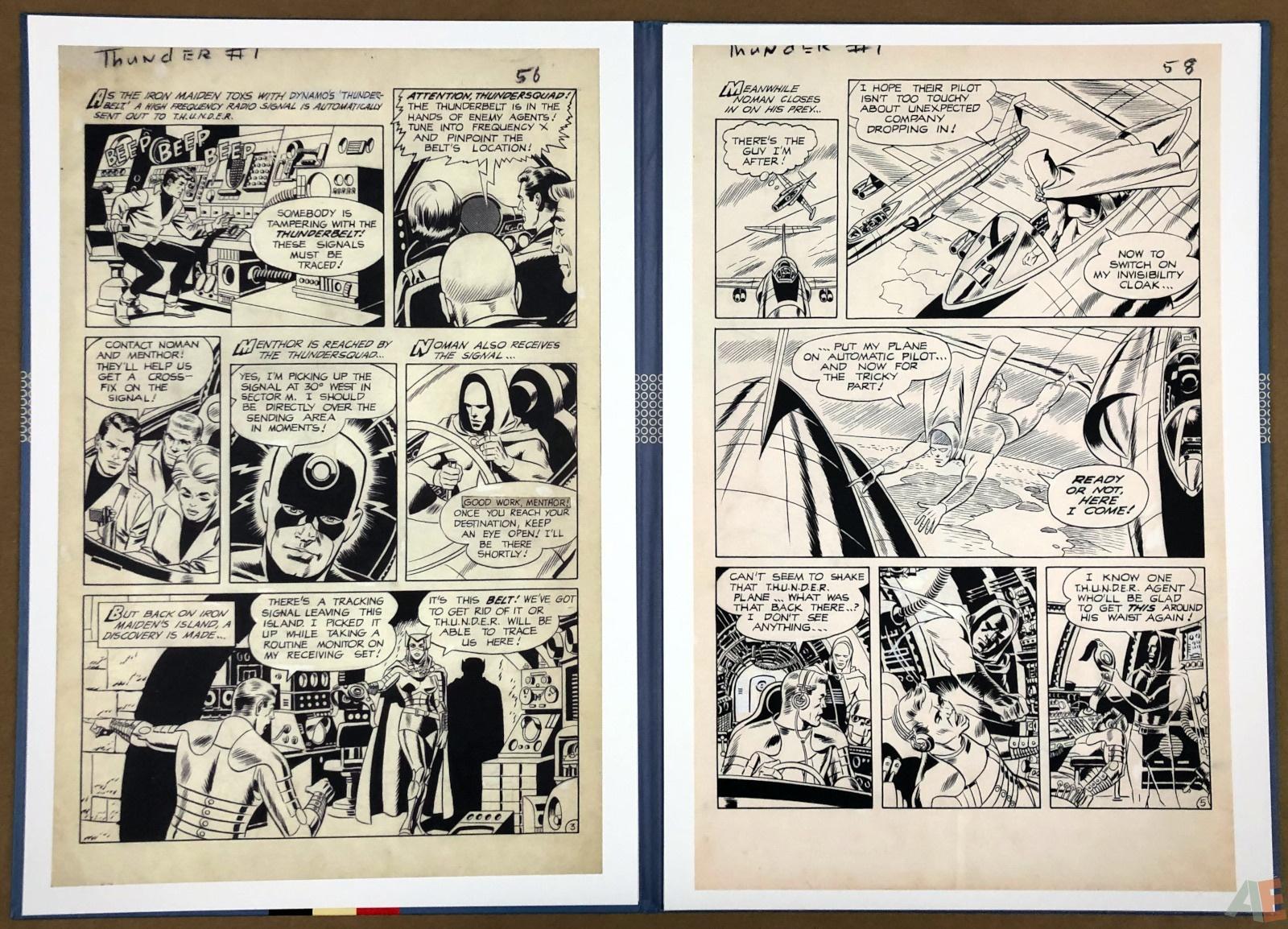 Wally Wood T.H.U.N.D.E.R. Agents Artist's Edition Portfolio 8