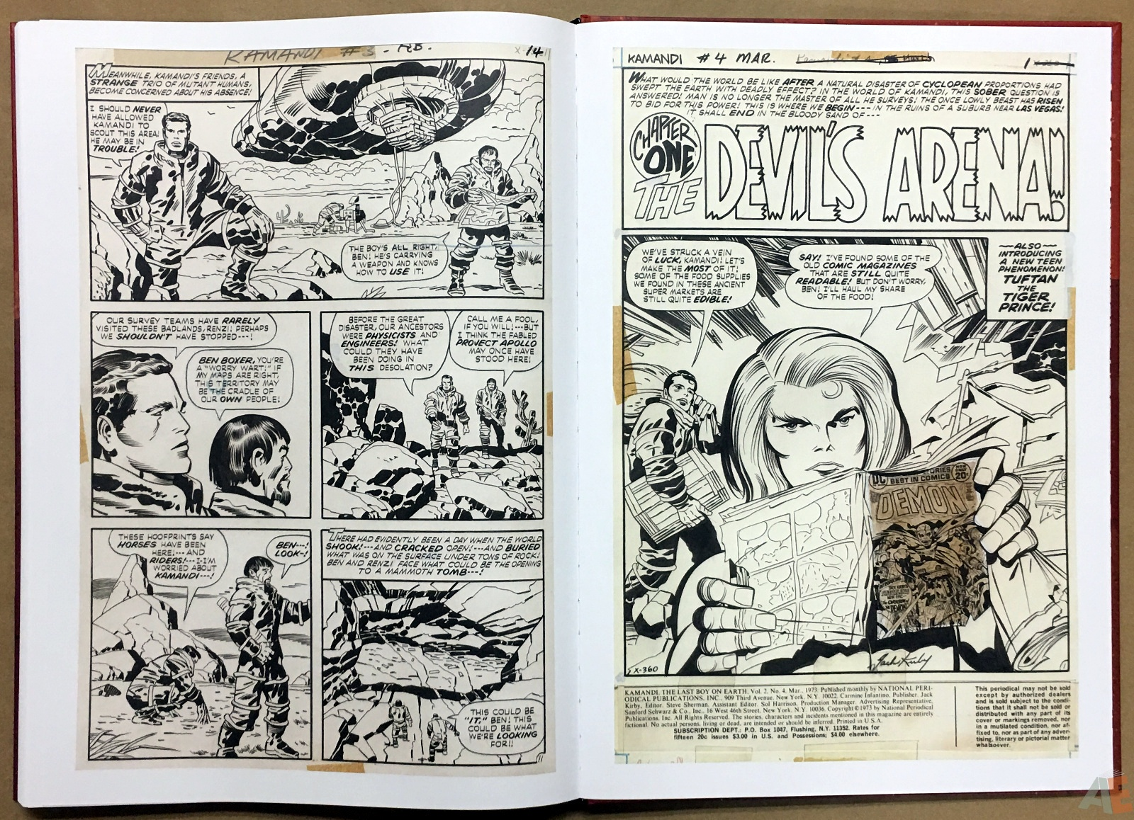 Jack Kirby Kamandi The Last Boy On Earth Artist's Edition 50