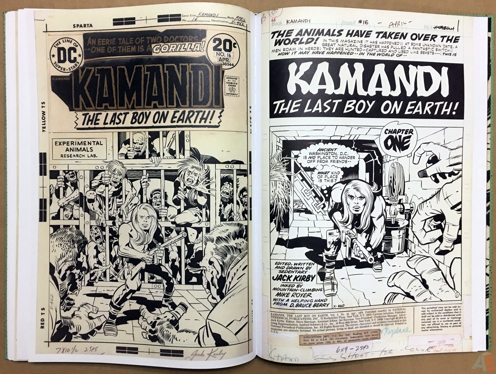 Jack Kirby Kamandi The Last Boy On Earth Artist's Edition Volume Two
