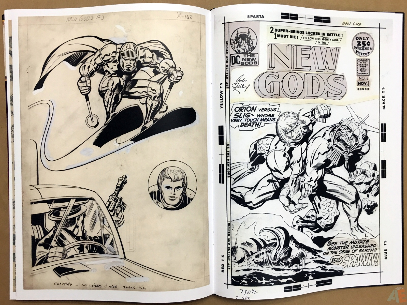 Jack Kirby New Gods Artist's Edition 52