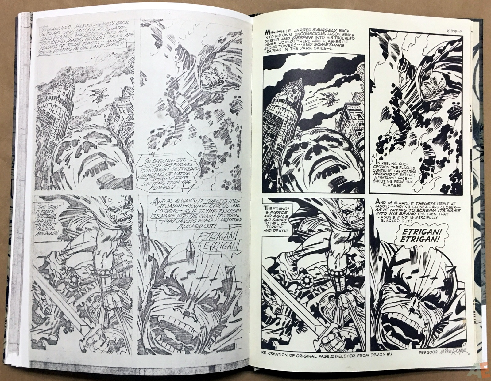 Jack Kirby Pencils And Inks Artisan Edition 34