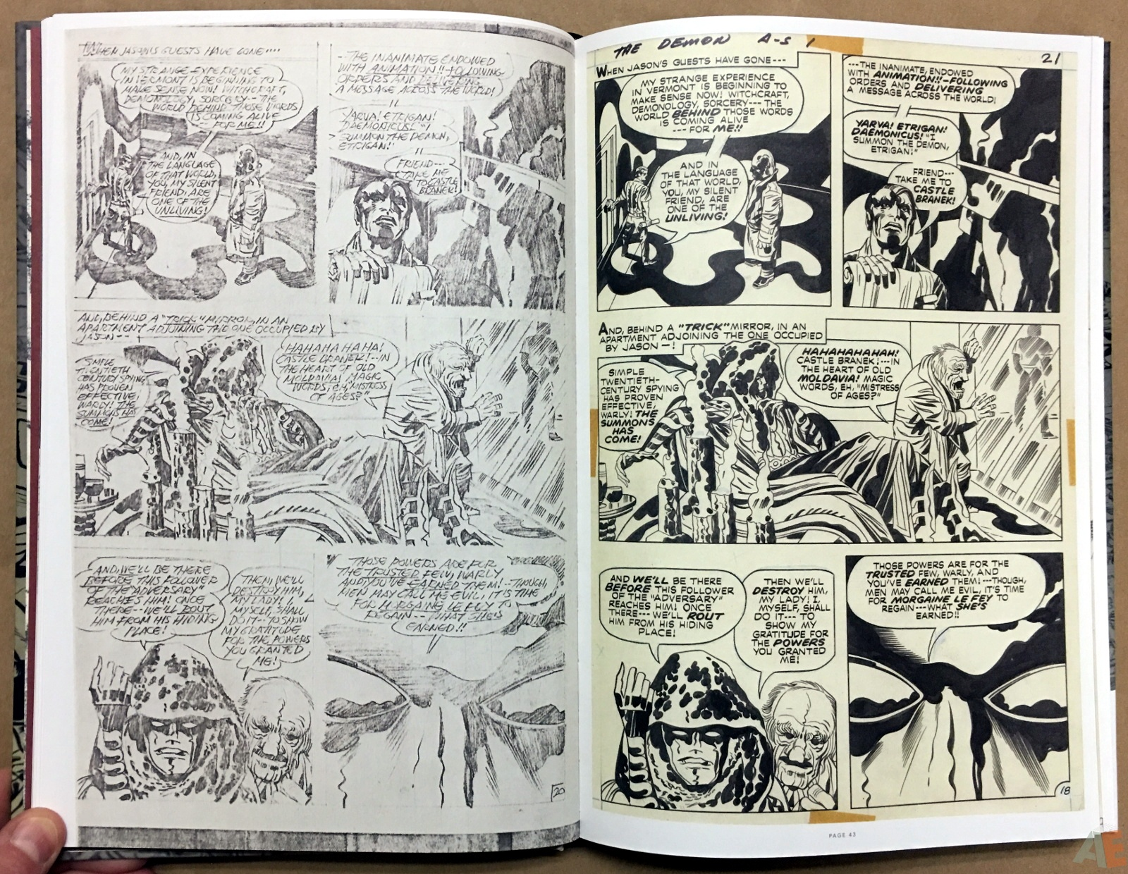 Jack Kirby Pencils And Inks Artisan Edition 14