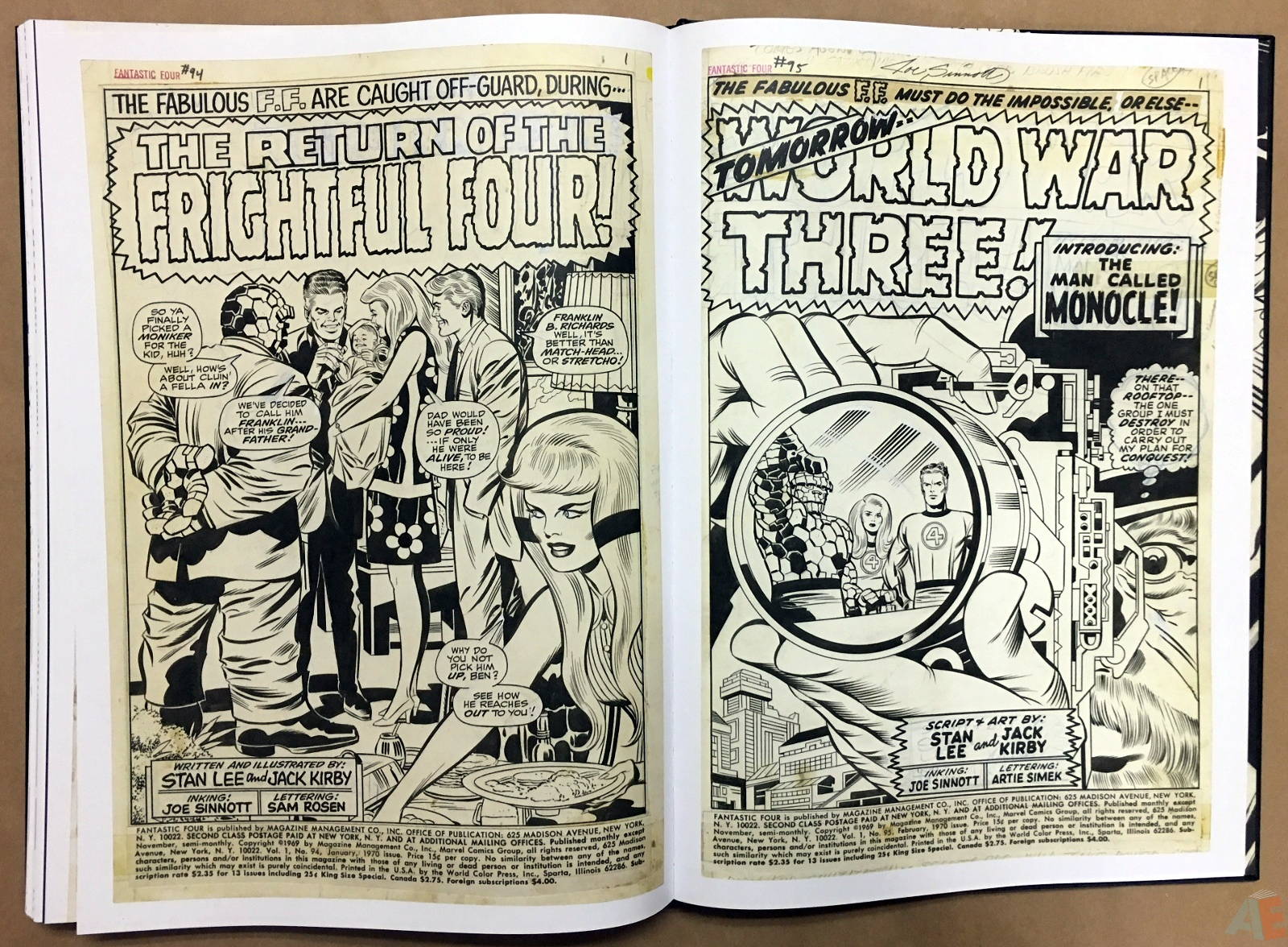 Jack Kirby's Fantastic Four Artist's Edition 50