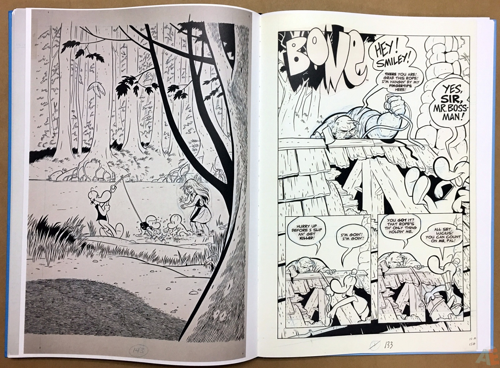 Jeff Smith's Bone: The Great Cow Race Artist's Edition 34