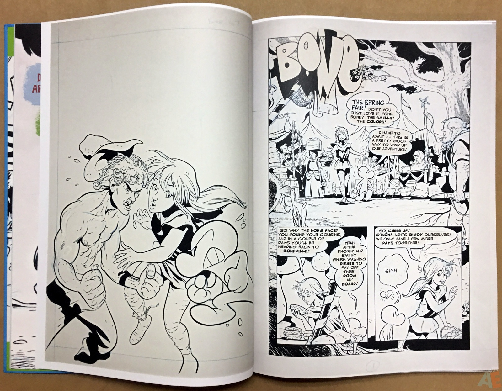Jeff Smith's Bone: The Great Cow Race Artist's Edition 8