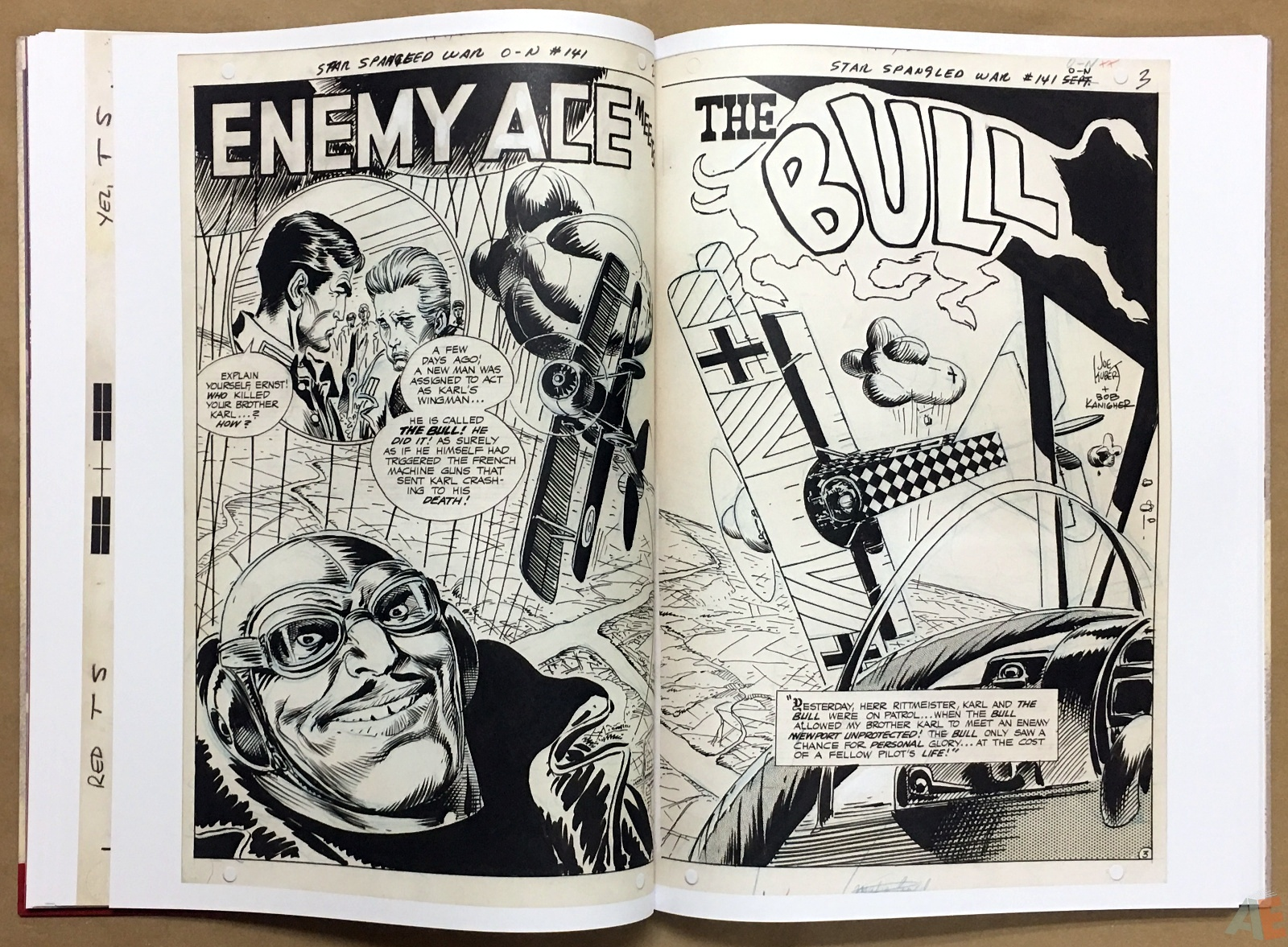 Joe Kubert Enemy Ace Artist's Edition 22