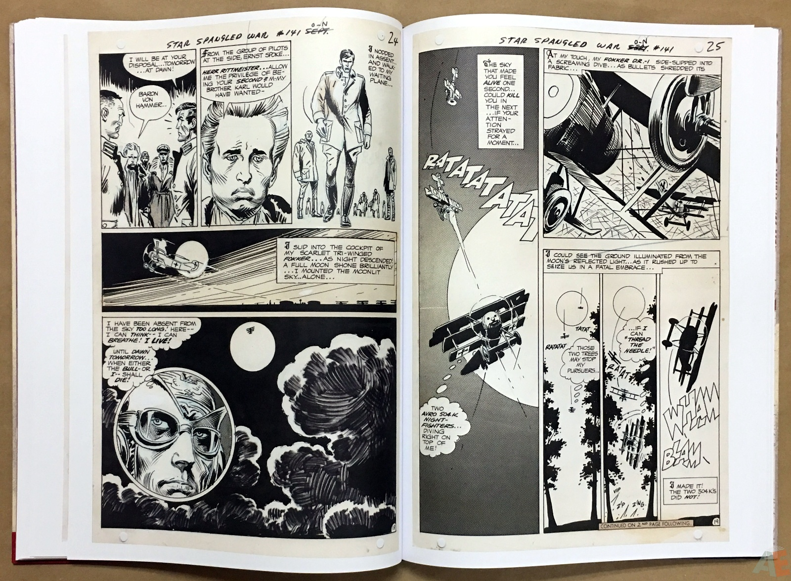 Joe Kubert Enemy Ace Artist's Edition 26