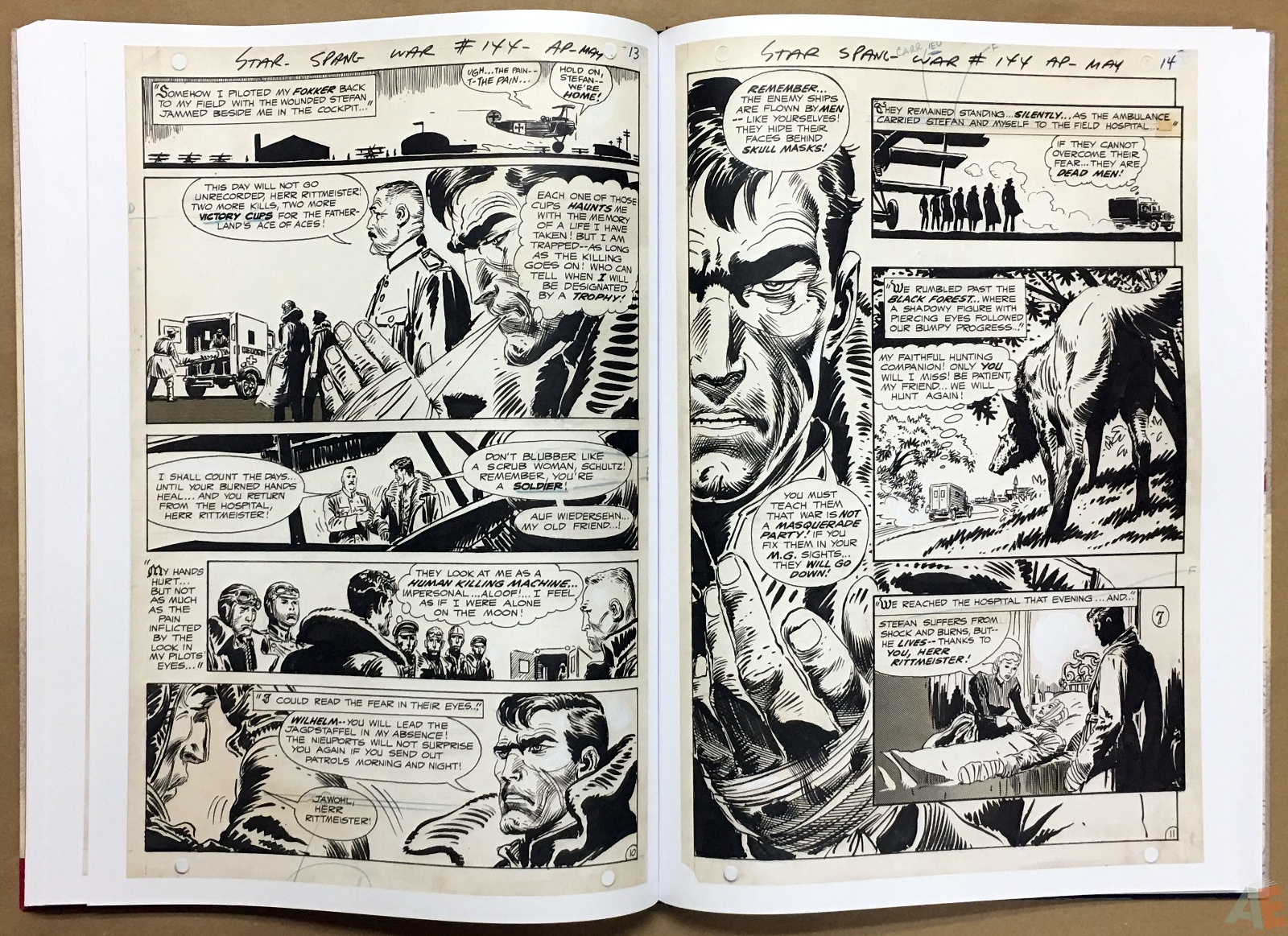 Joe Kubert Enemy Ace Artist's Edition 32