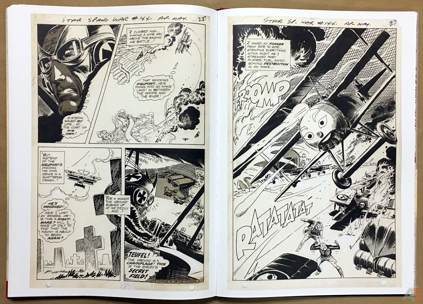 Joe Kubert Enemy Ace Artist's Edition 34