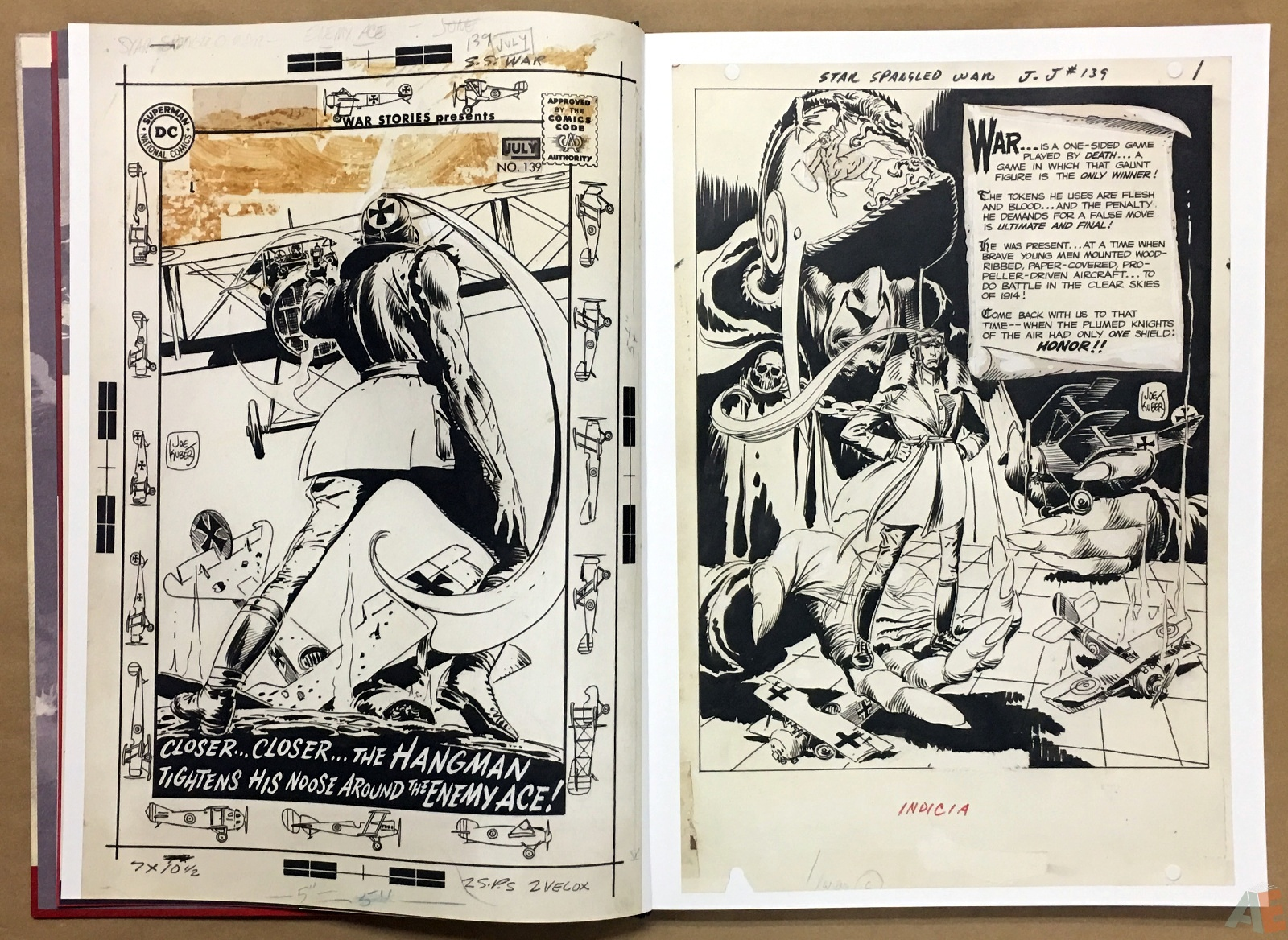 Joe Kubert Enemy Ace Artist's Edition 8