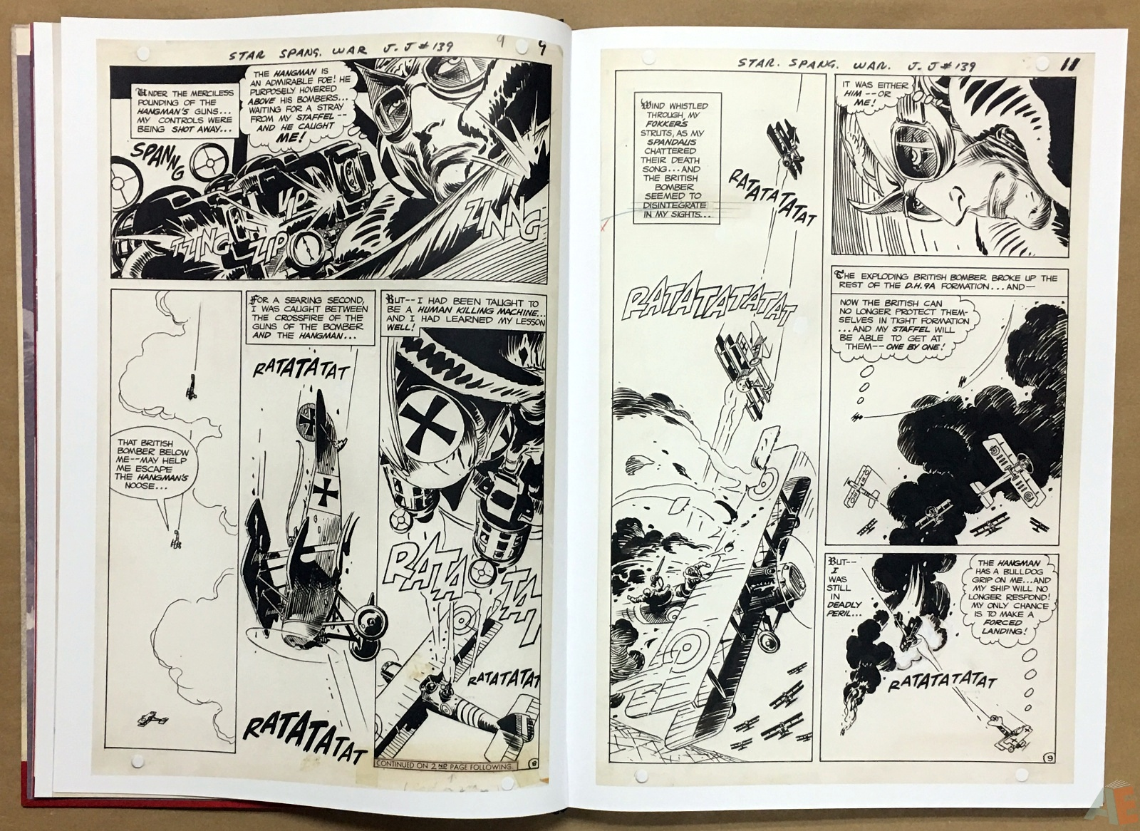 Joe Kubert Enemy Ace Artist's Edition 10