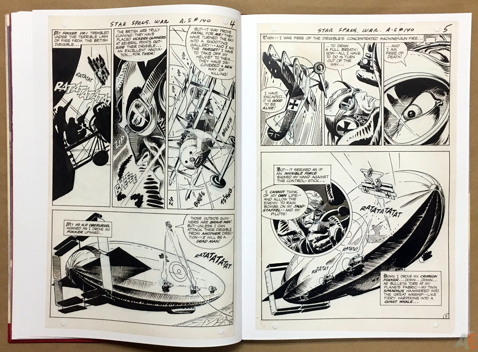 Joe Kubert Enemy Ace Artist's Edition 16