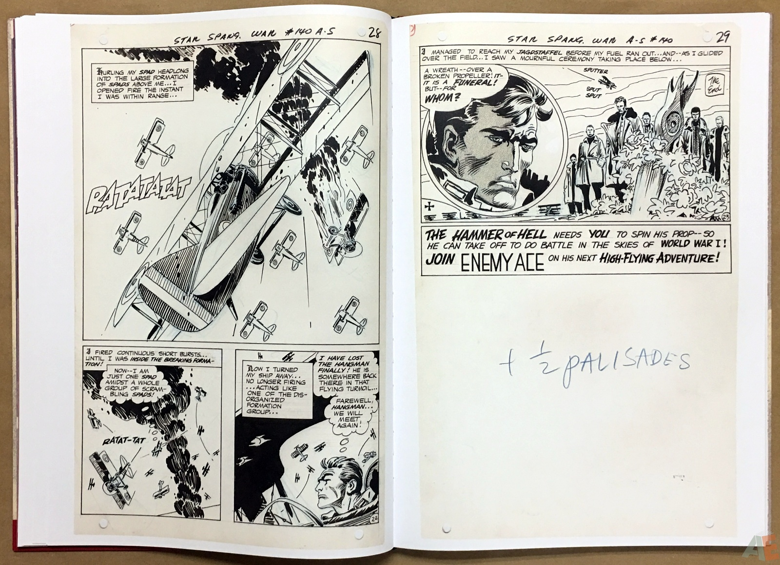 Joe Kubert Enemy Ace Artist's Edition 20
