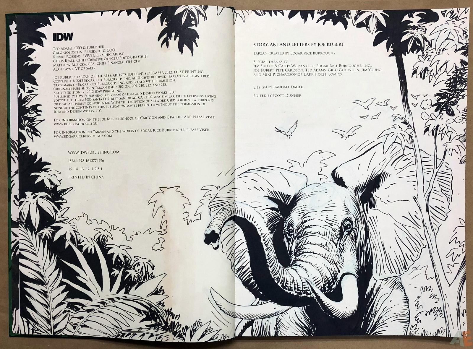 Joe Kubert's Tarzan of the Apes Artist's Edition 4