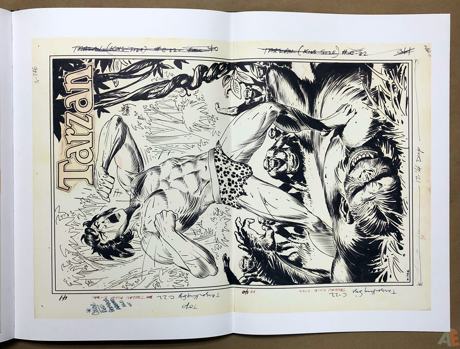 Joe Kubert's Tarzan of the Apes Artist's Edition 36