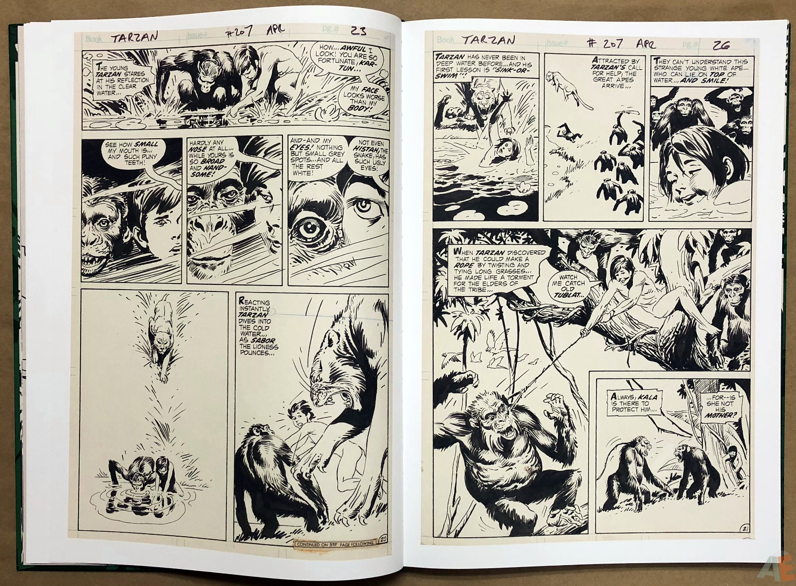 Joe Kubert's Tarzan of the Apes Artist's Edition 14