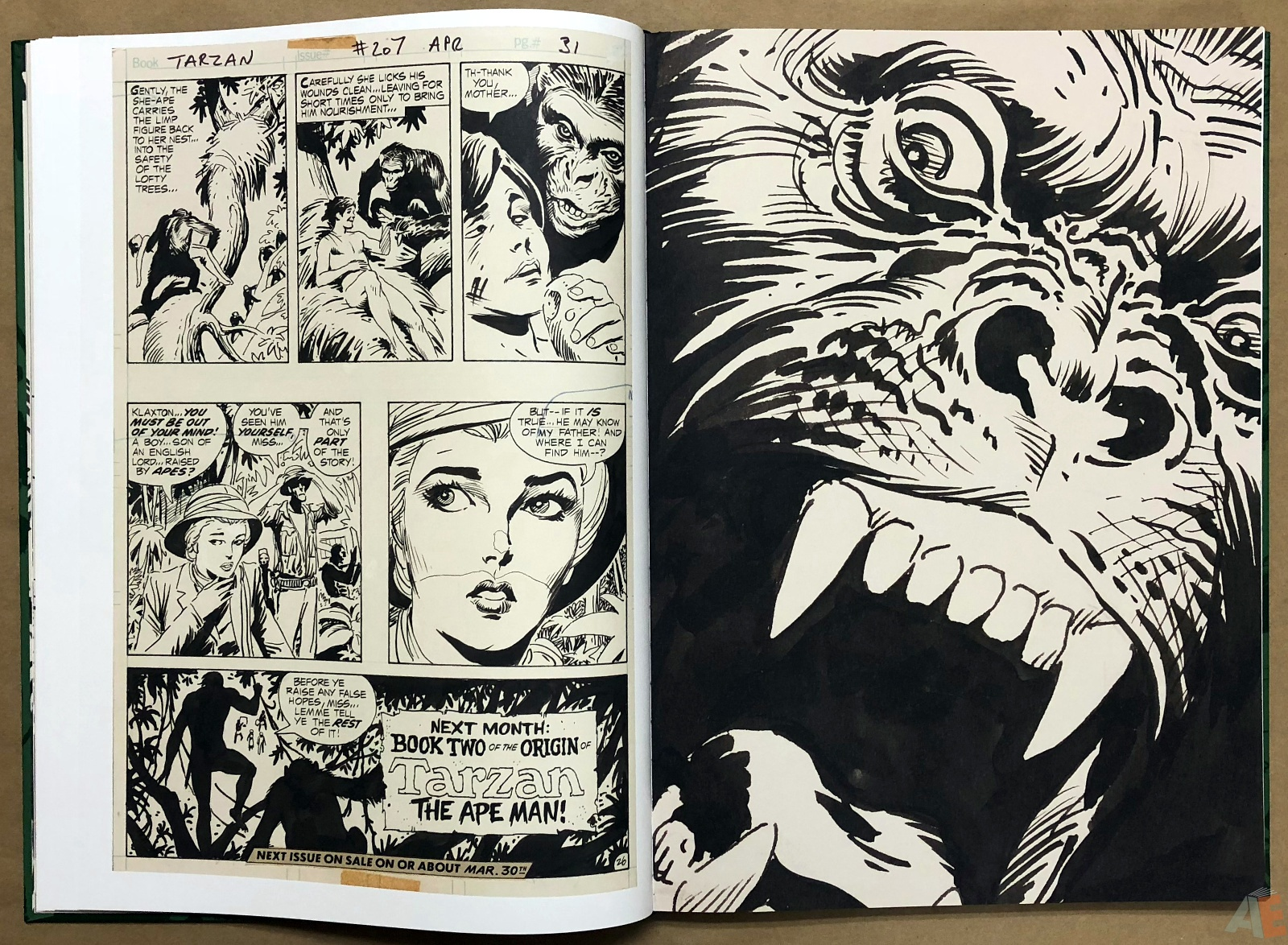 Joe Kubert's Tarzan of the Apes Artist's Edition 16