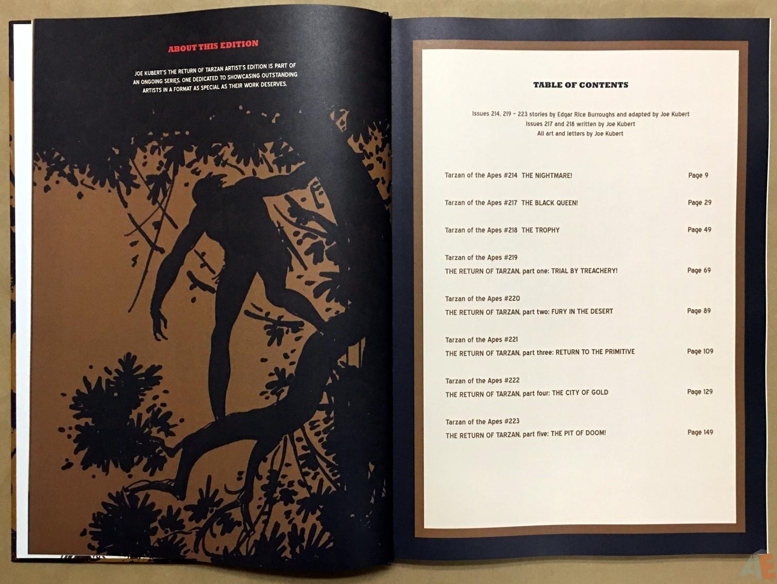 Joe Kubert's The Return Of Tarzan Artist's Edition 6