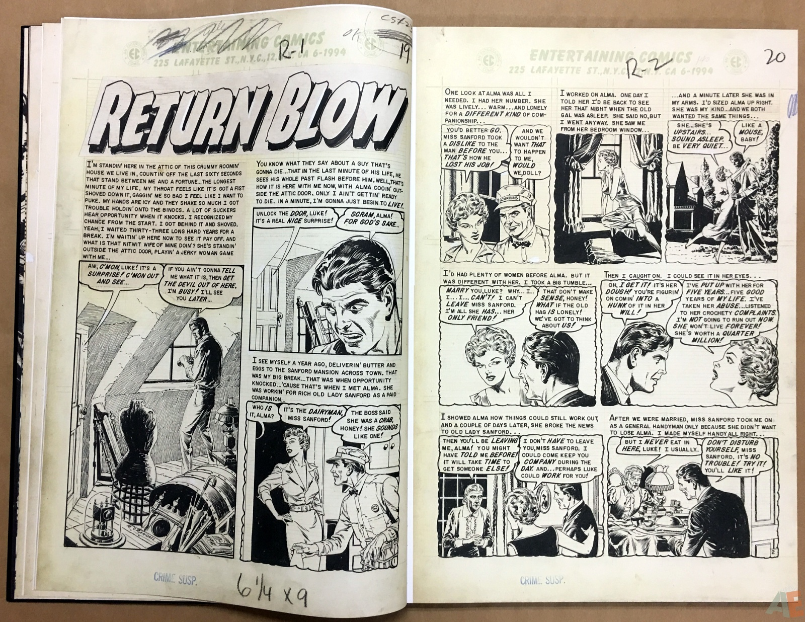 Reed Crandall's EC Stories Artist's Edition 8