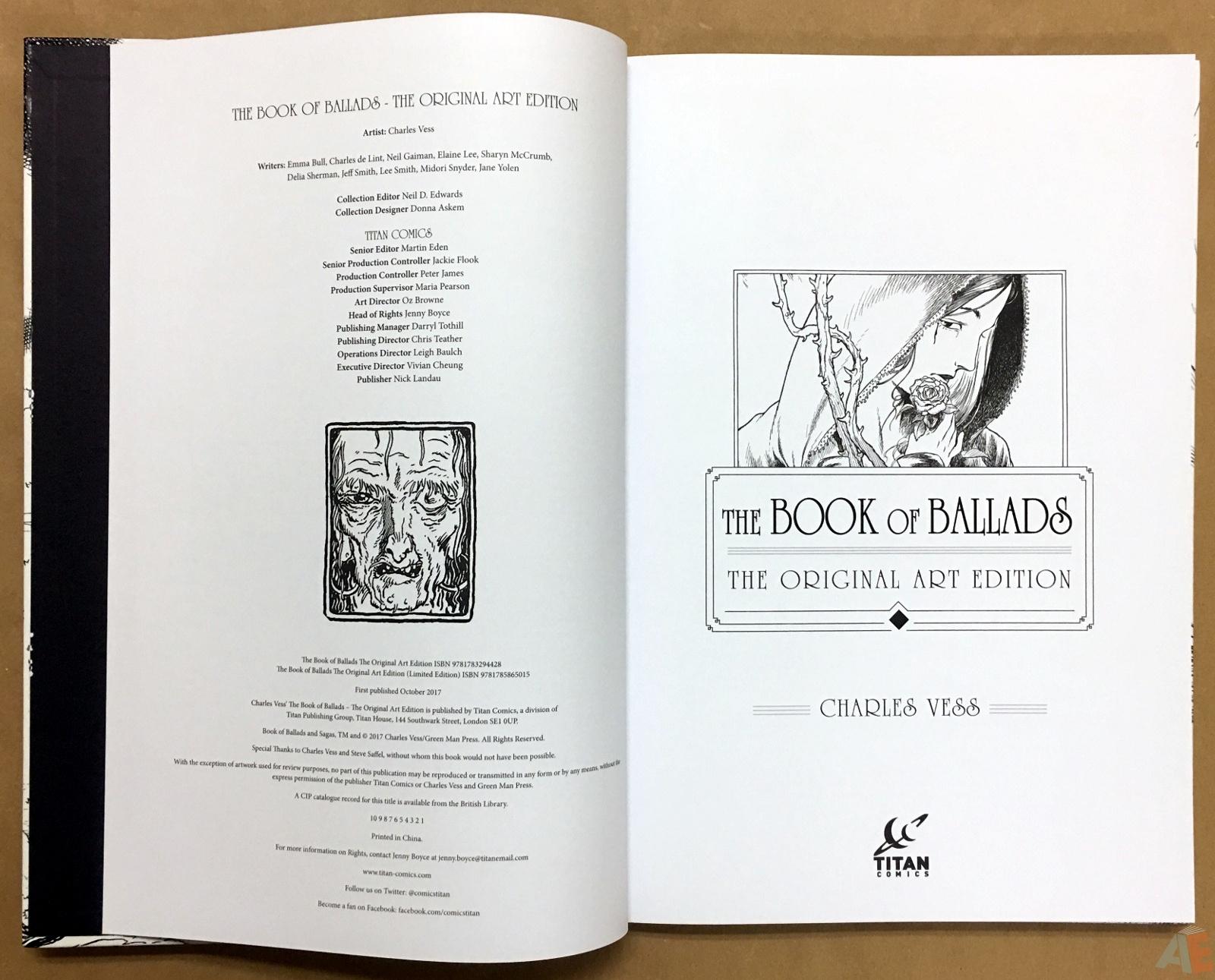 The Book Of Ballads, The Original Art Edition 4