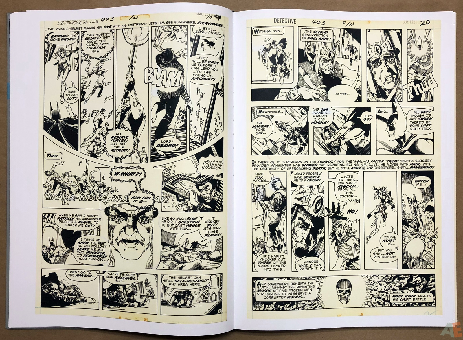 Walter Simonson Manhunter and Other Stories Artist's Edition 20