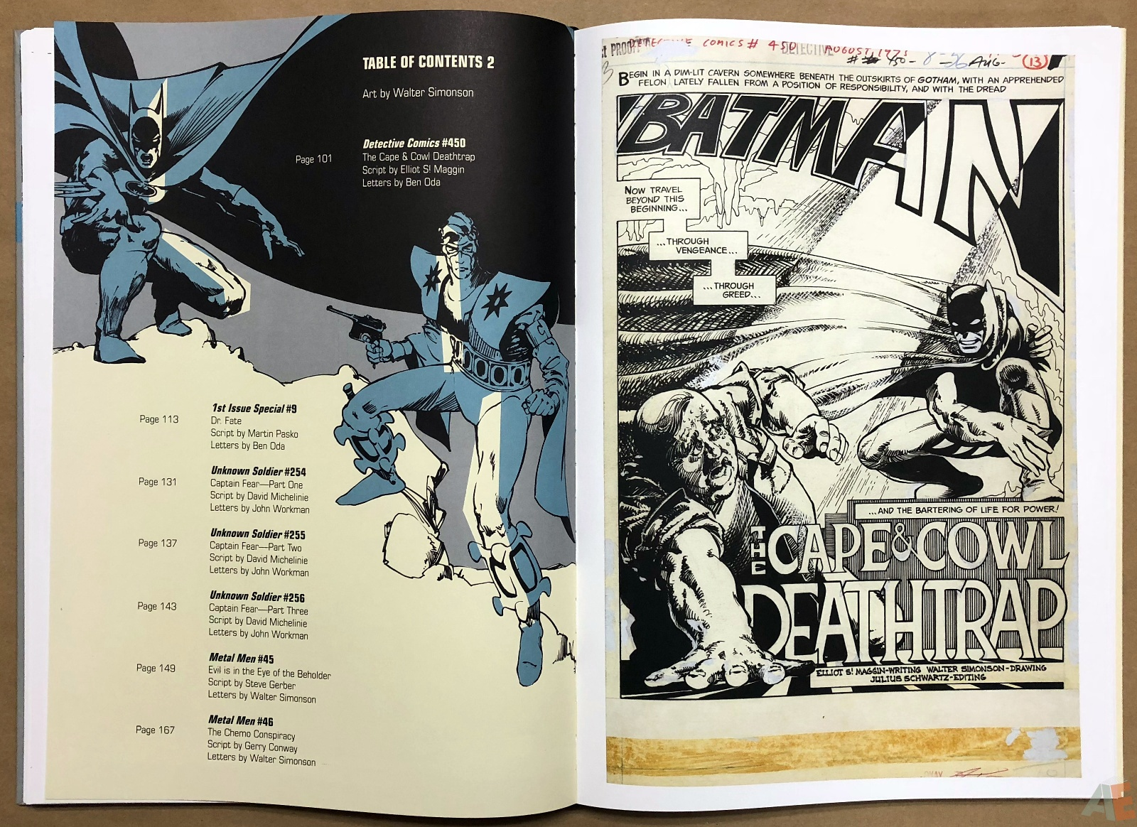 Walter Simonson Manhunter and Other Stories Artist's Edition 26