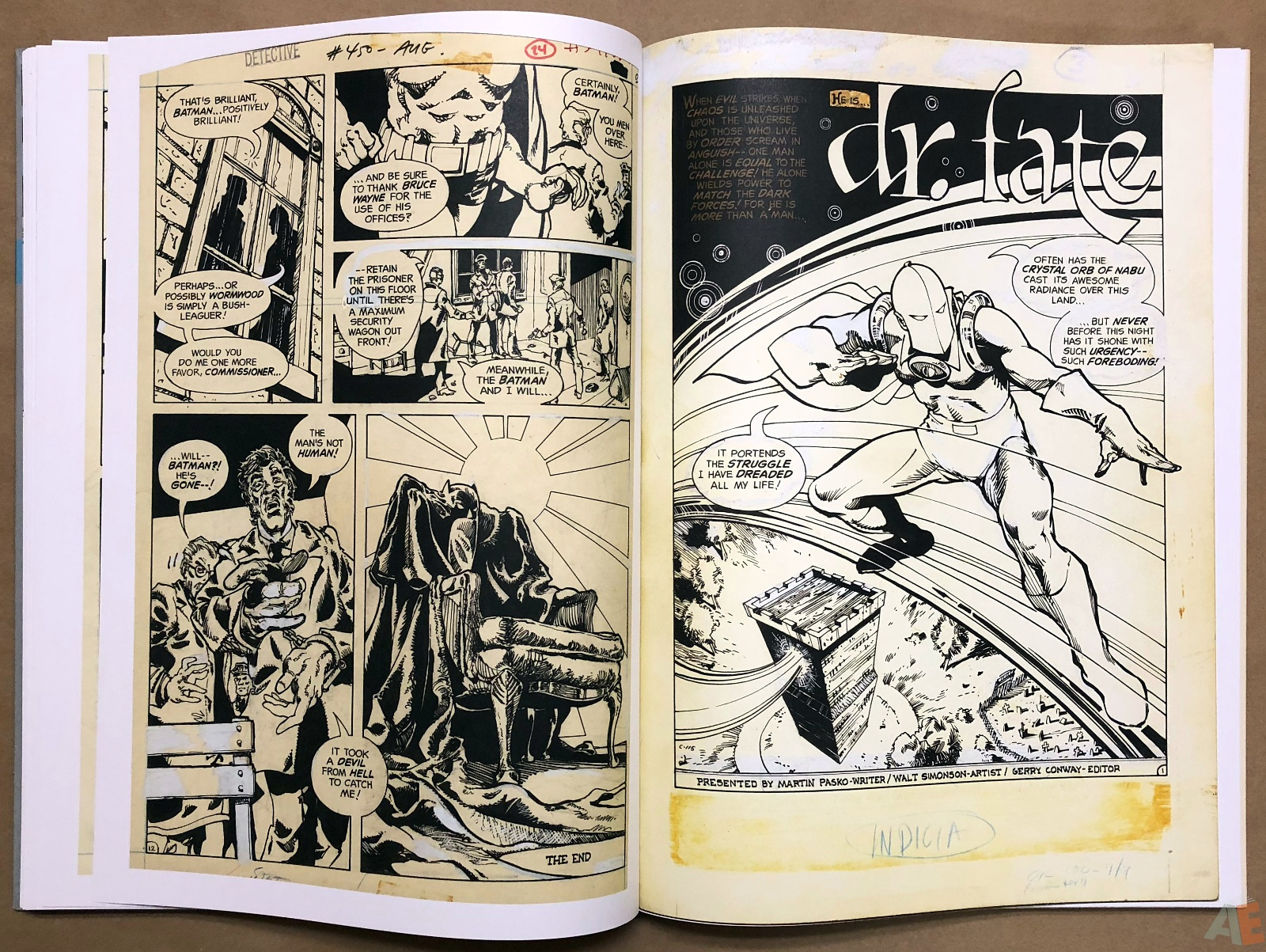 Walter Simonson Manhunter and Other Stories Artist's Edition 28