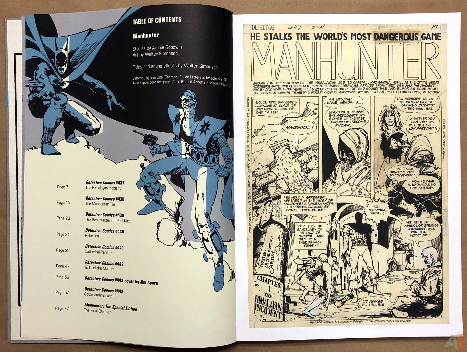 Walter Simonson Manhunter and Other Stories Artist's Edition 8