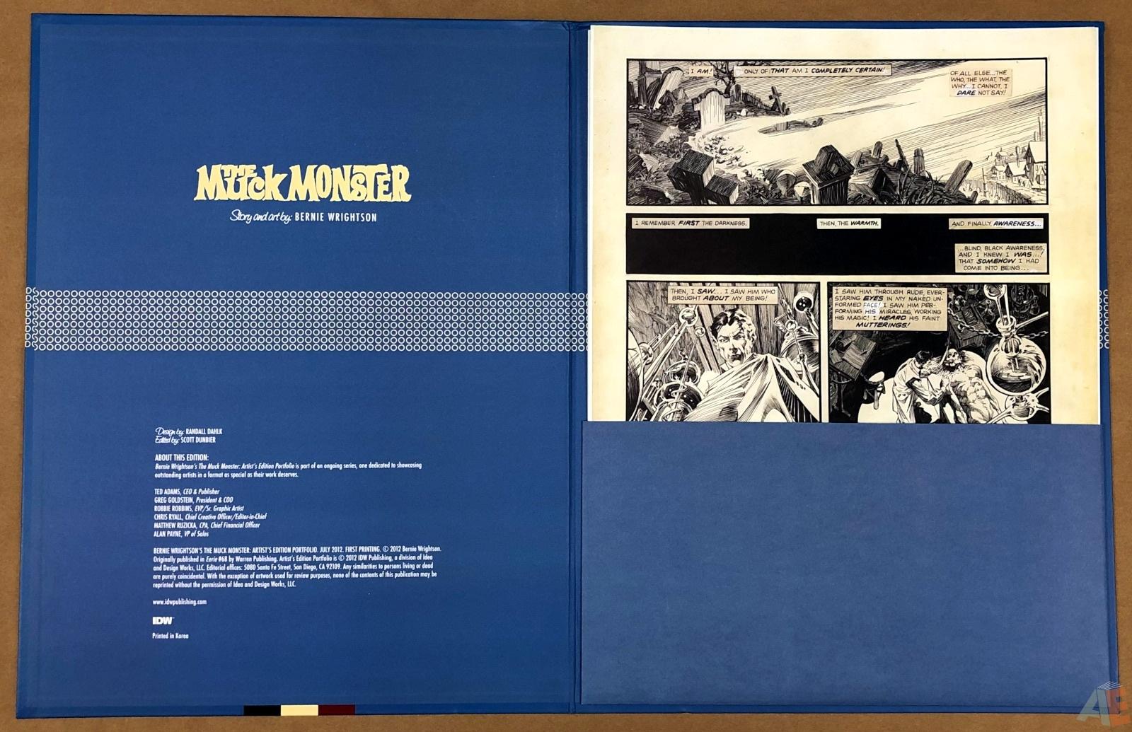 Bernie Wrightson's The Muck Monster: Artist's Edition Portfolio