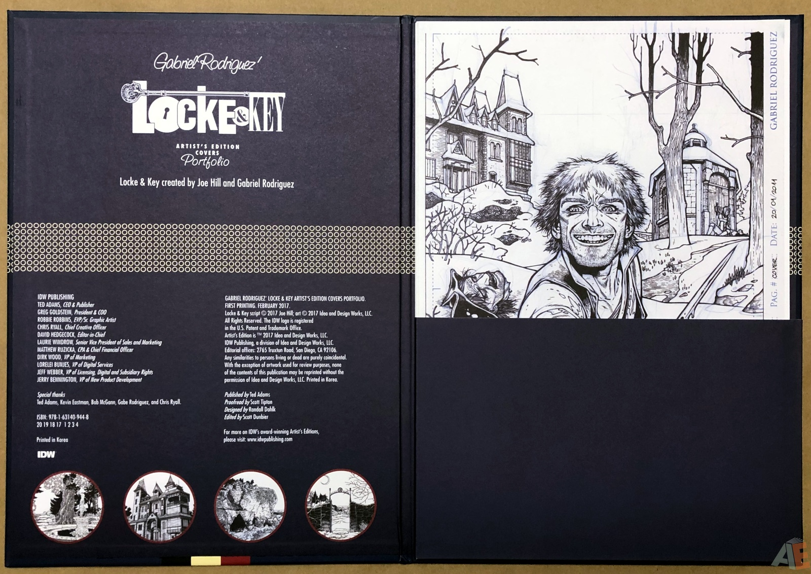 Gabriel Rodriguez' Locke & Key Artist's Edition Covers Portfolio 4